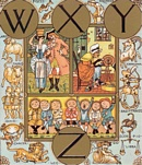 Sowerby glass, nursery rhyme, Cross Patch - Alphabet of Old Friends