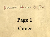 Edward Moore / Joseph Webb pattern book 1888 Cover page