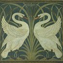 Walter Crane - Swan Rush and Iris wallpaper